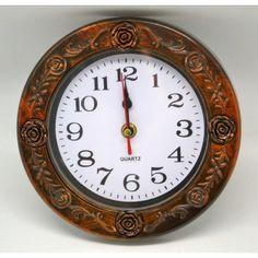 Nástenné hodiny rám ruže 19cm Quartz, Clock, Wall, Decor, Watch, Decoration, Clocks, Walls, Decorating