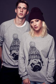 Pug Sweater by TommyPopcorn on Etsy