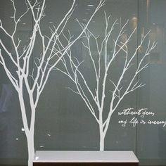 Two Trees birds Words Nature Vinyl Wall Paper by lovebabysticker