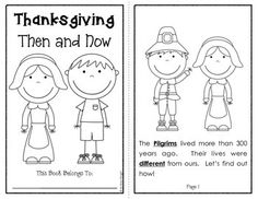THANKSGIVING: PAST & PRESENT {ACTIVITIES AND ASSESSMENTS FOR K-2} 28 pages, $