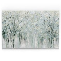 """Shop for """"Winter Mist"""" Hand Embellished Canvas - x x - Multi-color. Get free delivery On EVERYTHING* Overstock - Your Online Art Gallery Store! Canvas Art Prints, Painting Prints, Canvas Wall Art, Beach Paintings, Frames On Wall, Framed Wall Art, Canvas Online, New Wall, Online Art Gallery"""