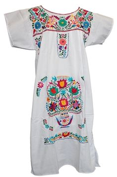 online shopping for Campesina Women's Puebla Mexican Dress - White from top store. See new offer for Campesina Women's Puebla Mexican Dress - White Casual Dresses For Women, Dresses For Sale, Dresses For Work, Clothes For Women, Kid Dresses, Traditional Mexican Dress, Traditional Dresses, Mexican Fiesta Dresses, Mexican Embroidered Dress