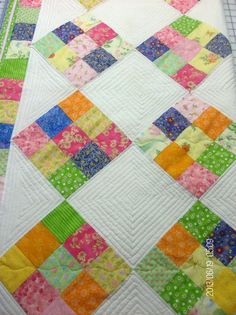 Nine Patch Baby Quilt for sale.  This is an over sized baby quillt.