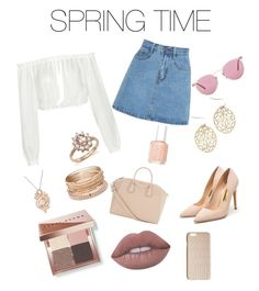"""""""Spring Fever"""" by autumnjackson-i ❤ liked on Polyvore featuring Rupert Sanderson, Elizabeth and James, Givenchy, Essie, Bobbi Brown Cosmetics, Dagmar, Lime Crime, Bloomingdale's, LE VIAN and Red Camel"""