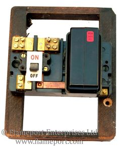 larger size brown wylex single way fusebox with a cartridge fuse