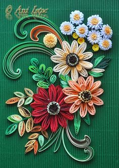 Printre hobby-uri: quilling, kusudama, origami, bijuterii handmade...: Quilling - Summer flowers (Flori de vara)