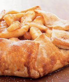 rustic apple tart recipe from real simple-my man loves him some apple desserts. Köstliche Desserts, Delicious Desserts, Dessert Recipes, Yummy Food, Plated Desserts, Apple Desserts, Apple Recipes, Sweet Recipes, Real Simple Recipes