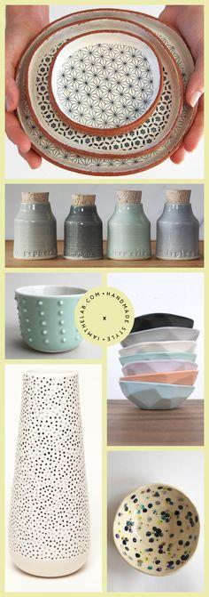 Handmade Ceramics and Pottery via IAMTHELAB