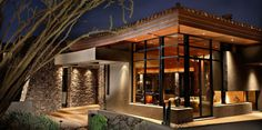 Love the windows and stone and design on this contemporary PHX Architecture