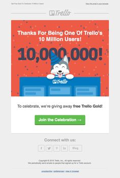 @trelloapp  sent this email with the subject line: We think you're 1 in 10…