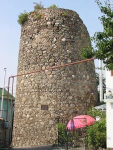 15th century Genoese tower in Alushta, Ukraine - on the Black Sea
