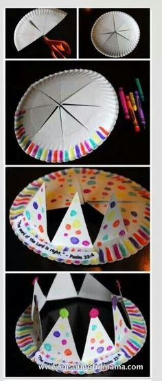 Royal Crowns...TIP: use bigger size paper plates so they sit on the head better.