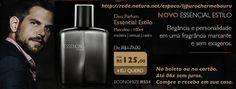 Natura Deo parfum Essencial Estilo. Elegância e personalidade em uma fragrância marcante e sem exageros. Compre online: http://rede.natura.net/espaco/ljpurocharmebauru Acesse a fan page: https://www.facebook.com/ljpurocharmebaurunaturaonline