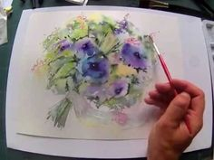Loose Wet into Wet Watercolours ' Flowing Bouquet' with Andrew Geeson. Link download: http://www.getlinkyoutube.com/watch?v=LkC-ivmI1dU