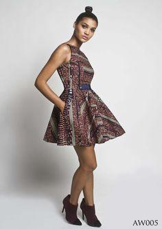 Tina Lobondi dress made with African Print fabric #AfricanPrints #kente #ankara