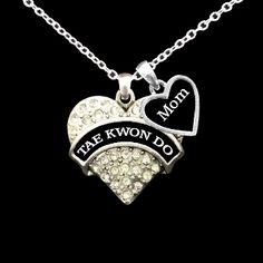 Custom Relationship Tae Kwon Do Necklace. I'd so get this for someone if I knew a mom of a tae kwon do student! :D