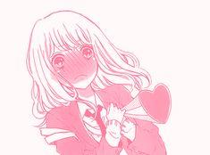 manga pink girl