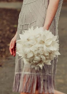Love this! Bridal bouquet MADE to ORDER  large feather by hairbowswonderworld, $375.00