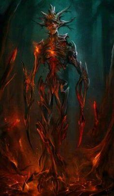 Demon, skeleton, undead, Fantasy creature design | hell, diablo, monsters | Fantasy Art