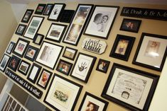 Step-by-step tutorial on making a photo collage wall. Photo Wall Collage, Picture Wall, Collage Walls, Picture Frames, Kitchen Gallery Wall, Gallery Walls, Photo Arrangement, This Is Your Life, Painted Wood Signs