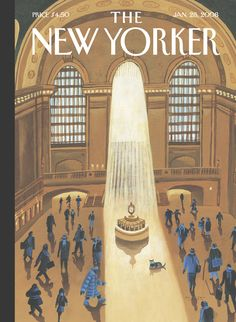"""The New Yorker - Monday, January 28, 2008 - Issue # 4248 - Vol. 83 - N° 45 - Cover """"Winter Pleasures"""" by Mark Ulriksen"""