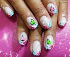 38 Ideas nails ideas french tip nailart Taupe Nails, Pink Glitter Nails, Pink Nails, Diy Nail Designs, Simple Nail Designs, Super Cute Nails, Nails For Kids, Manicure Y Pedicure, Square Nails