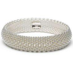 TIFFANY & CO. Sterling Silver Mesh Somerset Bracelet