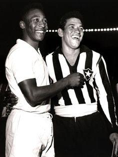Dupla de gênios, Pelé e Garrincha, os dois melhores jogadores do Brasil de todos os tempos!