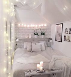 Here are the Modern And Romantic Bedroom Lighting Decor Ideas. This post about Modern And Romantic Bedroom Lighting Decor Ideas was posted under the bedroom category by our team at August 2019 at am. Hope you enjoy it and don't forget to share this post. Dream Rooms, Dream Bedroom, Home Bedroom, Brick Bedroom, Budget Bedroom, Pretty Bedroom, Brick Wallpaper Bedroom, Bedroom Inspo, White Brick Wallpaper