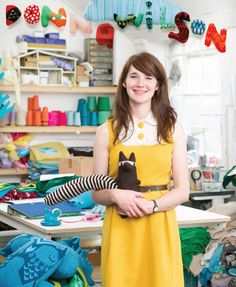 Donna Wilson makes odd knitted creatures, curious cushions, luxurious lambswool blankets, and other knitted home goods and strives make products people can connect with and to keep craftsmanship alive in the UK. | The Spoonflower Blog