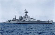 A beautiful colourised view of a beautiful ship. HMS Hood in 1924.