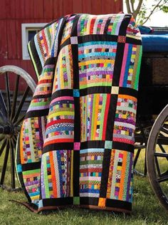 Love the stripes intermixed with the strips of small squares