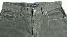Calvin Klein Men's Straight Leg CORDUROY Jeans•Olive Brown•30x32•FREE SHIPPING #CalvinKleinJeans #StraightLeg