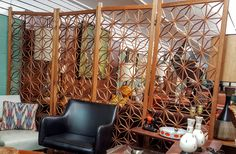 Mid Century Teak Wood Geometric Room Divider Screen by gremlina on Etsy