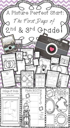 """Free for a limited time! I hope you find the 'Picture Perfect Start' to be the perfect back to school book for your kiddos! With the custom camera book option (see pictures below), it is sure to be a parent favorite for years to come! You will find lots of """"choice"""" with this book. With choices for pages, you can craft the perfect book for each student in your class! Print only what you need."""