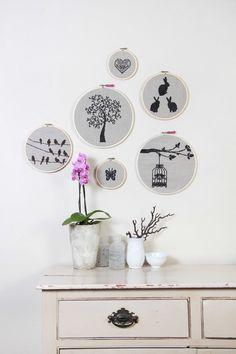 Beautiful Crochet, Cross Stitch, Gallery Wall, Embroidery Hoops, Frame, Artist, Inspiration, Home Decor, Cute Crochet