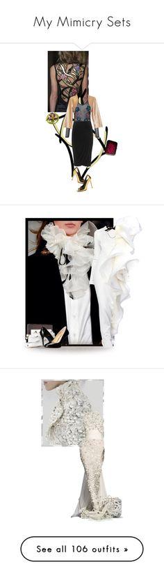 """My Mimicry Sets"" by renna-ravenwood ❤ liked on Polyvore featuring Christian Dior, Miss Selfridge, Yoek, Rachana Reddy, Lanvin, Michael Kors, MICHAEL Michael Kors, Alexander McQueen, Burberry and Delpozo"