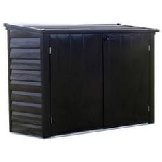 Arrow Versa-Shed Steel Storage 6 x 3 ft. at Lowe's. The Versa-Shed from Spacemaker™ is an all steel, compact storage unit made from high quality electro galvanized steel made to conveniently store Plastic Storage Sheds, Steel Storage Sheds, Garbage Can Storage, Garbage Shed, Shed Storage, Storage Spaces, Locker Storage, Cycle Storage, Bike Storage