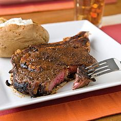 Coffee-Crusted Steaks -