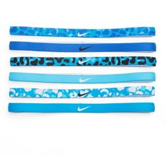 Nike 6-pk. Logo Leopard Sport Headbands ($15) ❤ liked on Polyvore featuring accessories, brown over and nike