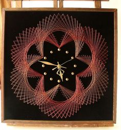 1000 images about fonalgrafika on pinterest string art wall hangings and string art patterns - Spirograph clock ...
