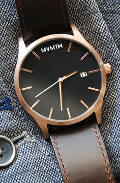 Rose Gold/Brown Leather x MVMT Watches  Click the image to purchase