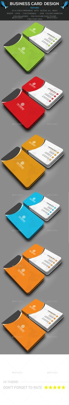 Simple Corporate Business Card Template PSD #design Download: http://graphicriver.net/item/simple-corporate-business-card/14349245?ref=ksioks