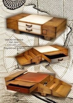 Woodworking Drawings - BATEL - Table basse bar-BATEL-Vol de Nuit Woodworking Drawings - Get A Lifetime Of Project Ideas and Inspiration! Woodworking Business Ideas, Awesome Woodworking Ideas, Best Woodworking Tools, Woodworking For Kids, Woodworking Workbench, Popular Woodworking, Woodworking Projects Diy, Woodworking Furniture, Wood Projects