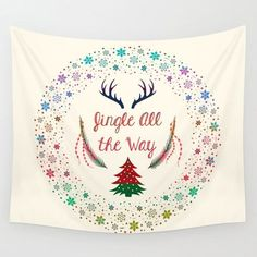 Christmas Eve Wall Tapestry