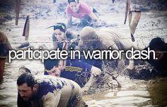 bucket list: participate in warrior dash