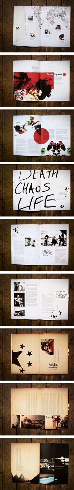 MOD Magazine layouts by Kathryn Ditchett