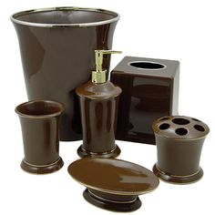 African Themed Bathroom Accessories Brown Ideas
