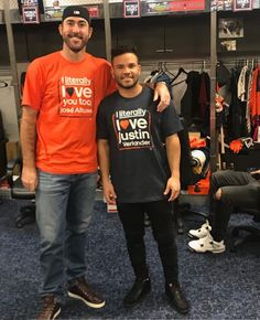 Houston Astros Justin Verlander and Jose Altuve literally love each other. #mvps #goats #bestteamever