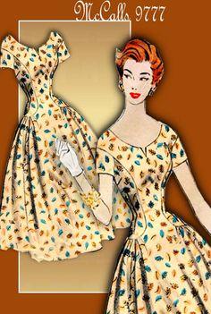 McCalls 9777 1950s Dress Pattern